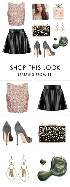 """""""Untitled #53"""" by isabellemarques1 ❤ liked on Polyvore featuring Boohoo, Gianvito Rossi, Karl Lagerfeld and Illamasqua"""