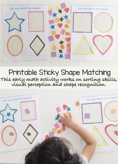 This toddler shapes activity is amongst my favorite preschool shapes theme activities and crafts. This printable free preschool math activity helps your child learn early math skills like shape recognition, visual perception and sorting.