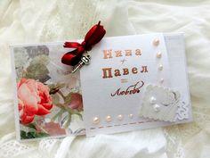 Свадебный конверт, скрап