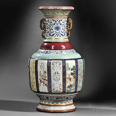Sold for: $24,723,000 - Monumental Fencai Flower and Landscape Vase | Chinese Art | Skinner Auctioneers