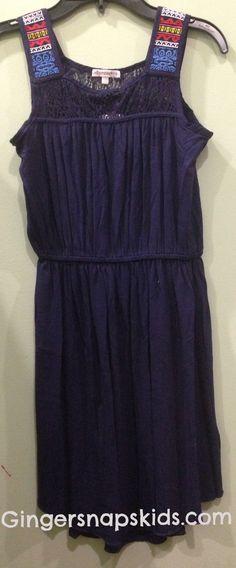 Ella Moss Bella Embroidered Knit Dress (sz 7/8-14)