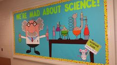 Black and Neon ...... We're Mad About Science - Bulletin Board Display