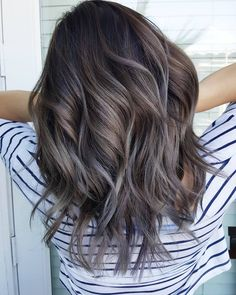 313 Likes, 12 Comments - Tiffany Ash Brown Hair Balayage, Ash Brown Hair With Highlights, Ash Hair, Hair Highlights, Ombre Hair, Dark Ash Brown Hair, Short Dark Hair, Color Highlights, Light Blond