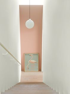 Wall Paint: Fenomastic My home Rich Matt: 2992 Delightful pink, Rich Matt 1624 Skylight Pink Hallway, Hallway Colours, Wall Colors, Interior Desing, Cafe Interior, Interior Inspiration, Interior And Exterior, Interior Styling, Jotun Lady