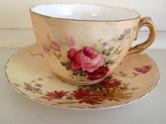 20th Century Royal Worcester Blush Cup and Saucer Bedford Bayswater Area image 1