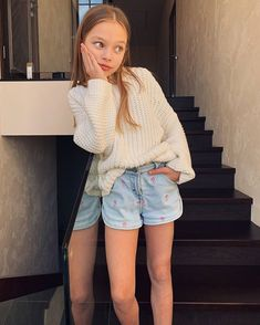 Little Girl Models, Little Girls, Anna Pavaga, White Shorts, Denim Shorts, Beautiful Children, Cheryl, Cute Girls, Baby Kids