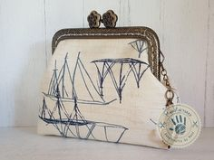 Anchors away! purse, 8,5 cm by ManoFactured on Etsy