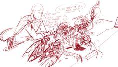 Bruh, what happened to him? Well, it's okay as long as he got Saitama!