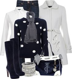 """""""Dots and Stripes"""" by stylesbyjoey ❤ liked on Polyvore"""