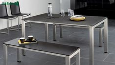 Manutti Trento Small Garden Table for the colour - Modern Small Garden Table, Ping Pong Table, Garden Design, Dining Table, Outdoor Furniture, Colour, Lakes, Home Decor, Urban