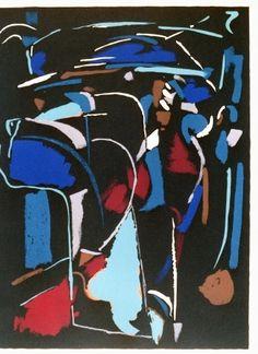 Lithographie - Andre Lanskoy - Composition noir