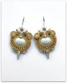 GOLD & SILVER soutache earrings