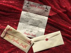 Letter from Santa Christmas Personalized printed shipped wax seal glitter peppermint child children kids Santa Claus  St. Nick by atasteofeverything on Etsy https://www.etsy.com/listing/494024649/letter-from-santa-christmas-personalized