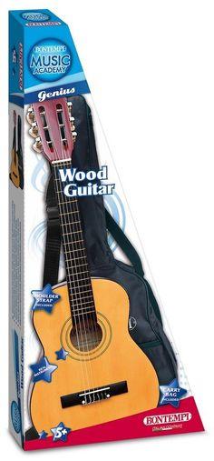 Bontempi - Gsw 75.2/b - Guitare En Bois Avec Housse De Protection Et Transport - 75 Cm #Guitare #Guitar #Acoustic #Art #Arts #Music #Musique #Bontempi #Housse