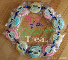 Jaihart: End of the Year Cookie Treat Printable