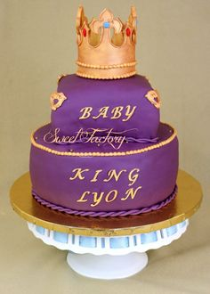 Royal baby shower cake - Prince baby shower cake