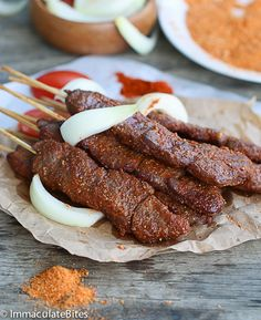 African spicy skewed beef – An irresistible Satay – the epitome of West African Street food, made in the oven. Quick and Easy!