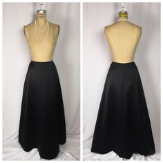 Ann Taylor Black Satin Long Evening Maxi Ball Skirt 12 Petite | eBay