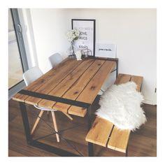 Gezellig gemaakt in huis! Zelfgemaakte tafel