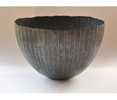 Afrian Hope - 'Snowline' bowl in oxidized Britannia silver
