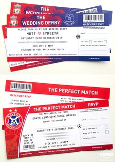 football ticket wedding invites http://www.wedfest.co/football-themed-wedding-stationery/