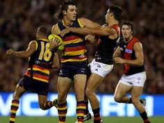 Australian Football League Round 14 Essendon vs Adelaide Crows at Etihad Stadium, on, Saturday, June 21th, 7:40pm (AEST). The Adelaide Crows appear to have hit form, while at the same time, the bombers Australian Football League, Tv Channels, Crows, Football Team, June, Running, Sports, Ravens, Raven