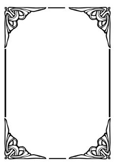 Page Dividers plus Black and White Borders and Frames Boarder Designs, Frame Border Design, Page Borders Design, Art Nouveau Pattern, Art Nouveau Design, Borders And Frames, Borders For Paper, Art Deco Borders, Wedding Symbols