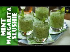 Mint Julep Cocktail Recipes in all shapes and sizes to celebrate the Kentucky Derby from Classic to Frozen. Plus a Mint Julep Sorbet Recipe that can't help but win. Kiwi, Mint Margarita, Mint Lemonade, Ramadan Recipes, Frozen Drinks, Frozen Mojito, Fruit Recipes, Drink Recipes, Herb Recipes
