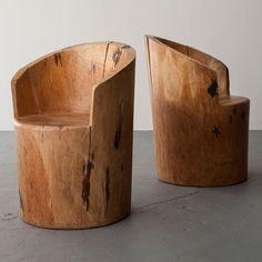 Jose Zanine Caldas, Brazil, 1970s  Carved solid wood chair.
