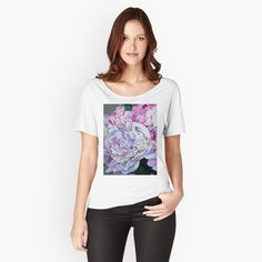 Frida Kahlo Portraits, Pink Garden, Colorful Roses, Background S, Pink Peonies, My T Shirt, Tshirt Colors, Chiffon Tops, Female Models