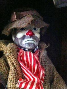"Sad Clown, says previous pinner. I say, ""Scary clown!"""