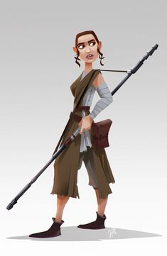 So I have heard every artist is drawing Rey right now! Star Wars I approve of you! So here you go!!!