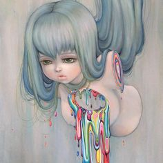 camilladerricoart:  New Camilla d'Errico painting 'My Disassembled Rainbow'