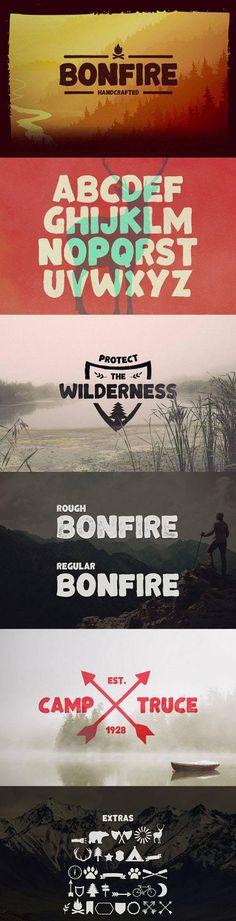 Font - Bonfire Typeface