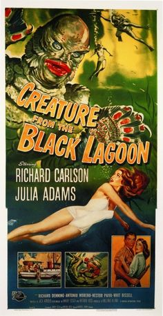 1954 Vintage Movie Poster: Creature from the Black Lagoon