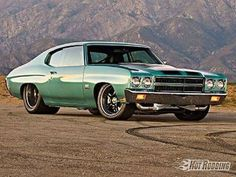 '70 Chevrolet Chevelle SS that some one should be burnt at the stake for not only tubing but for also removing the awesome motor and putting in a nasty diesel!!