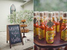 hot sauce favors   the Nichols photo team   #weddingfavors