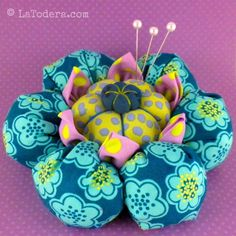 Flower Pincushion Pattern Tutorial Cactus Blossom by LaTodera