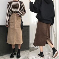Korean Street Fashion, Korea Fashion, Muslim Fashion, Modest Fashion, India Fashion, Japan Fashion, Frock Fashion, Kpop Fashion Outfits, Skirt Fashion