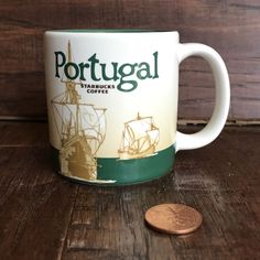 8fd680f3266 STARBUCKS 2013 PORTUGAL DEMITASSE 3 oz COFFEE MUG GLOBAL ICON COLLECTOR  SERIES