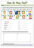 Vocabulary practice related to feelings and emotions. Key provided.Two exercises: the first one is a wordsearch and the second one is a fill in the gaps using the same words the students must find and match above. - ESL worksheets