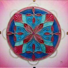 "Mandala Hand Glass drawing Mandala ""Něžnost bytí"""