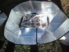 Fast forward to 2 min. 41 seconds. $5 Funnel Solar Oven - Make A Solar Oven For $5