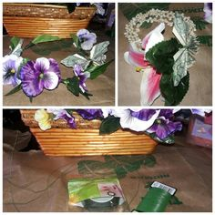 Flower, money Butterfly crowns and wristlet great for graduations✂