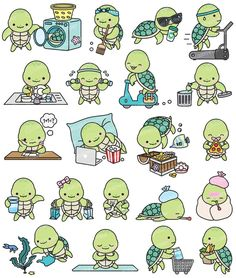 Marvelous Drawing Animals In The Zoo Ideas. Inconceivable Drawing Animals In The Zoo Ideas. Cute Turtle Drawings, Cute Animal Drawings, Kawaii Drawings, Cute Drawings, Diy Kawaii, Kawaii 365, Kawaii Turtle, Cartoon Turtle, Kawaii Doodles