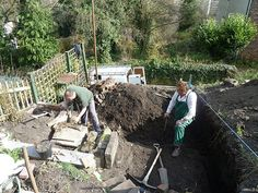 New shed project 5. Preparing the ground for the foundations