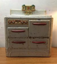 Vintage MARX Tin Toy Company Pretty Maid Stove 1949 Antique Girls Oven