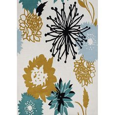 The Sabrina handmade area rug is made from blended New Zealand wool and is hand washed. Contemporary designs, a lush 0.7-inch pile height and a powerful color palette make this rug an ideal accent.