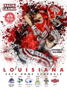 College Football Schedule, College Cheer, College Football Season, Twitter Template, Seasons Posters, Sports Graphic Design, Sports Graphics, Football Pictures, Louisiana