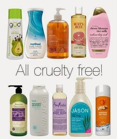 CRUELTY FREE Body washes-  click for more cruelty free brands | Beauty4Free2U (Attention: Organix is no longer cruelty free!!!)
